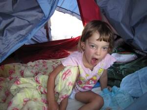 На палатка